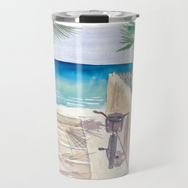 A Day At The Beach with Bike Travel Mug