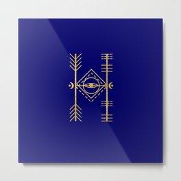 Sacred Geometry Letter H Metal Print