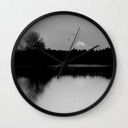 Mound Hood Reflection II Wall Clock