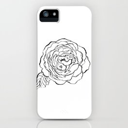 Rose Ink Drawing iPhone Case