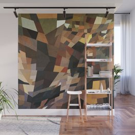 Grungy Rectangles in Muted Colors Wall Mural
