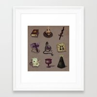 occult Framed Art Prints featuring Occult items by henri kutvonen