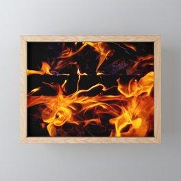 Fire Forms Framed Mini Art Print