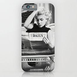 Mari-lyn Monroe, Motion Picture Daily, NYC, 1955, photography of Ed Feingersh Poster Litho Vintage American Icon iPhone Case