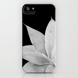 Gray Agave on Black #2 #tropical #decor #art #society6 iPhone Case