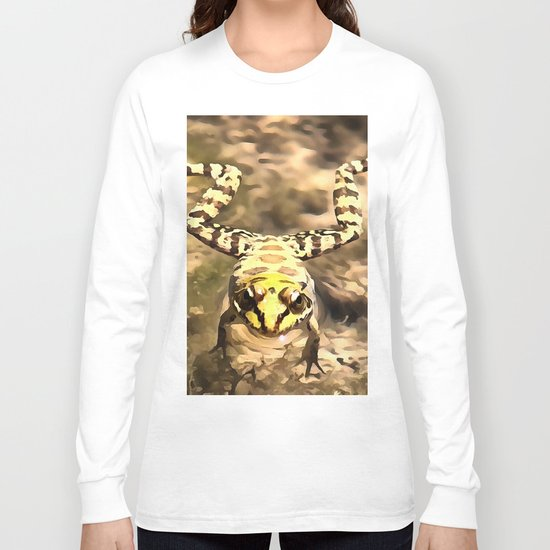 Swimming Frog Long Sleeve T-shirt