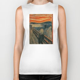 The Scream - Edvard Munch Biker Tank