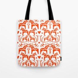 Dala Horses Pattern Tote Bag