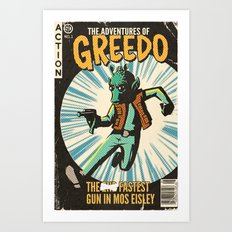 Greedo Vintage Comic Cover Art Print