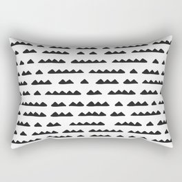 Hand Drawn Pyramids Rectangular Pillow
