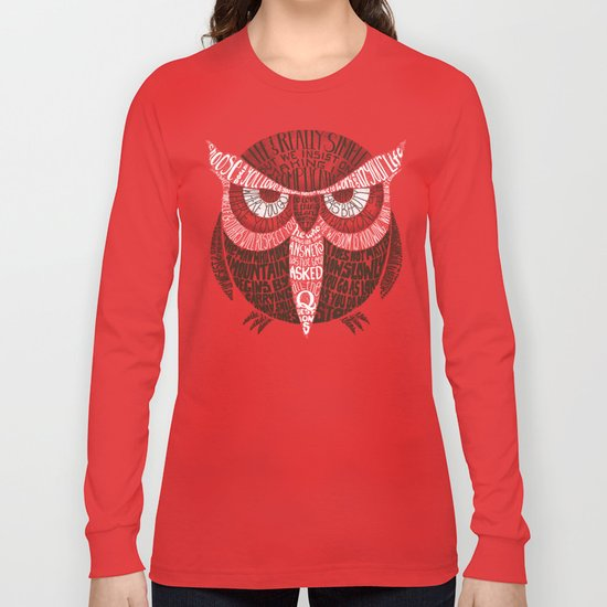 Wise Old Owl Says Long Sleeve T-shirt