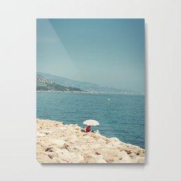 White umbrella Metal Print