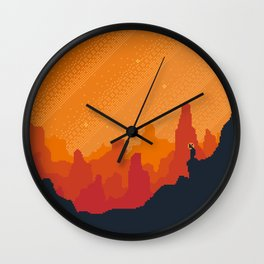 MARS Space Tourism Travel Poster Wall Clock