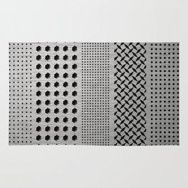 Digital Brushed Steel Industrial Graphic Rug