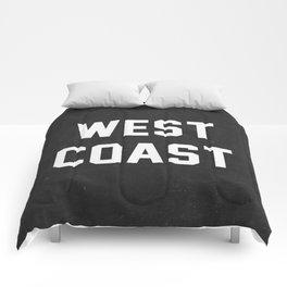 West Coast - black version Comforters