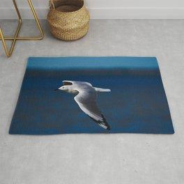 A Seagull Making A Turn Rug