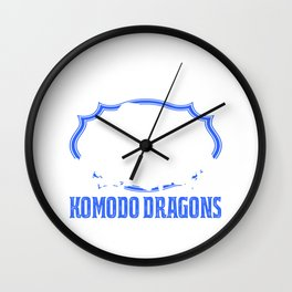 I just really like Komodo Dragons Wall Clock