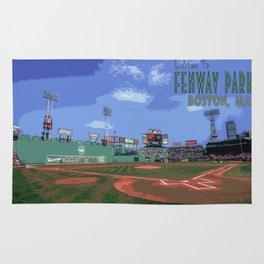 Vintage Fenway Park Poster Rug