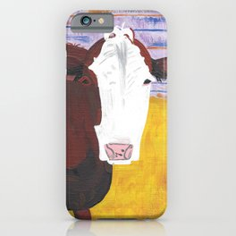 A Cow Named Knight iPhone Case