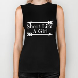 Archery Girl - Quote Biker Tank