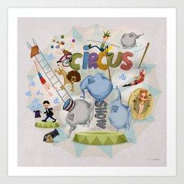 Fun Circus Show Art Print