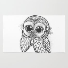 OWL ON THE LOOK OUT.... Rug