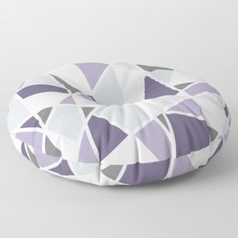 Geometric Pattern in purple and gray Floor Pillow