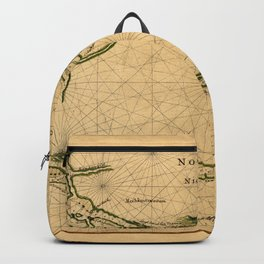 Map Of The Hudson River 1639 Backpack