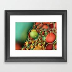 Bubble Jewels Framed Art Print