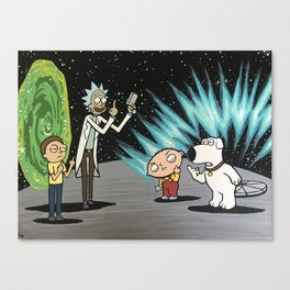 The Showdown Canvas Print