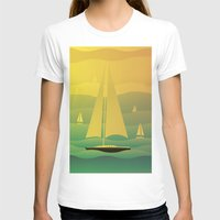 sailing T-shirts featuring Sailing by Chris Cooch