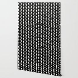 Alien Eggs Pattern Black and White Wallpaper