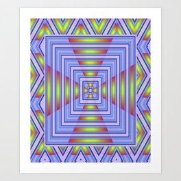 *Blue Heavens Doorway* Art Print