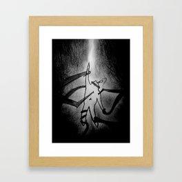Held Captive By Demons Framed Art Print