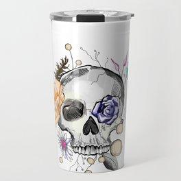 BoHo AF Floral Skull Travel Mug