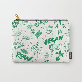 Organic Food Hand Lettering Print Carry-All Pouch