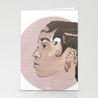 fka twigs Stationery Cards featuring FKA Twigs by Mateusz Kampa