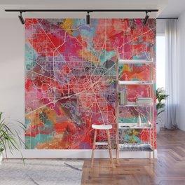 Huntsville map Alabama painting 2 Wall Mural