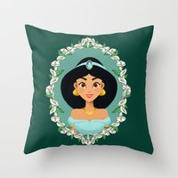 jasmine Throw Pillows featuring Jasmine by Joey Ellson