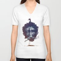 smoke V-neck T-shirts featuring Smoke by tkaracan