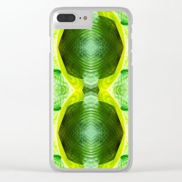 93 - Hosta plant abstract pattern Clear iPhone Case