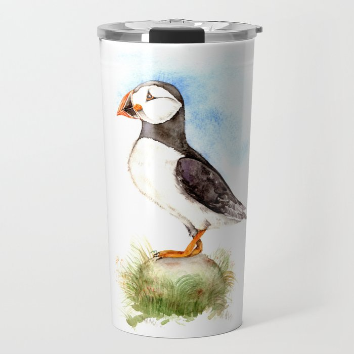 Puffin on a Rock Travel Mug
