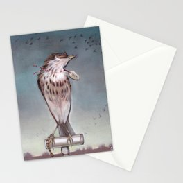 Yearning on a limb. (Bird) Stationery Cards