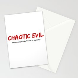 Chaotic Evil Stationery Cards
