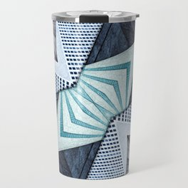 Abstract Structural Collage Travel Mug