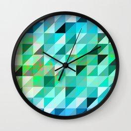 Vintage Blue & Green Wall Clock