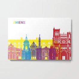 Amiens skyline pop Metal Print