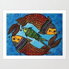 3 Fishes Art Print