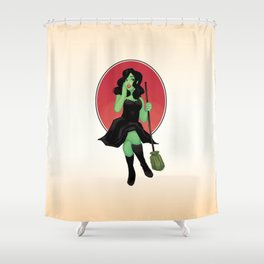 Witch Pinup Shower Curtain