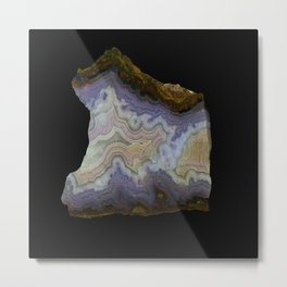 Royal Aztec Lace Agate Metal Print